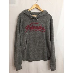 Nebraska HUSKERS Hooded Sweatshirt L